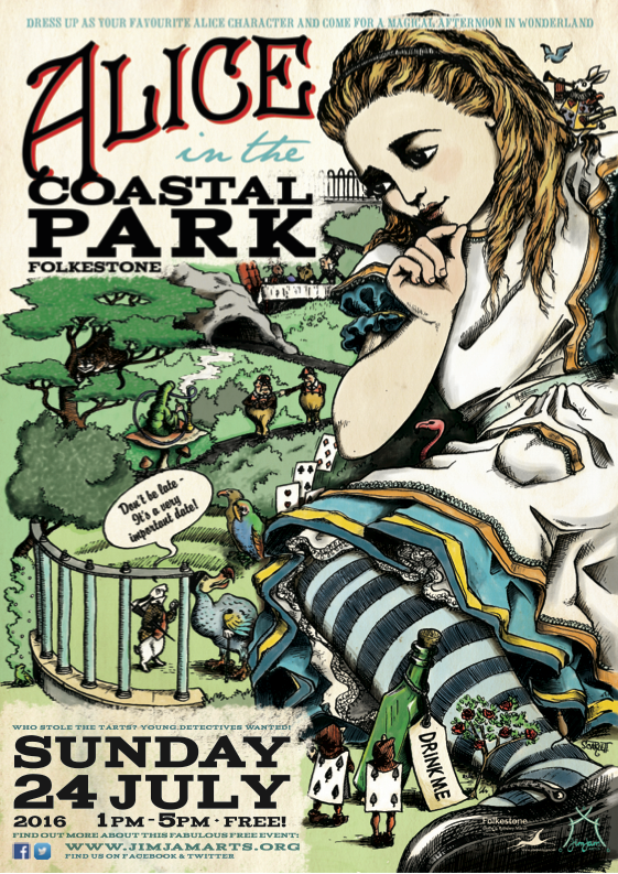 Folkestone, Kent, Coastal Park, JimJam Arts, Alice In Wonderland