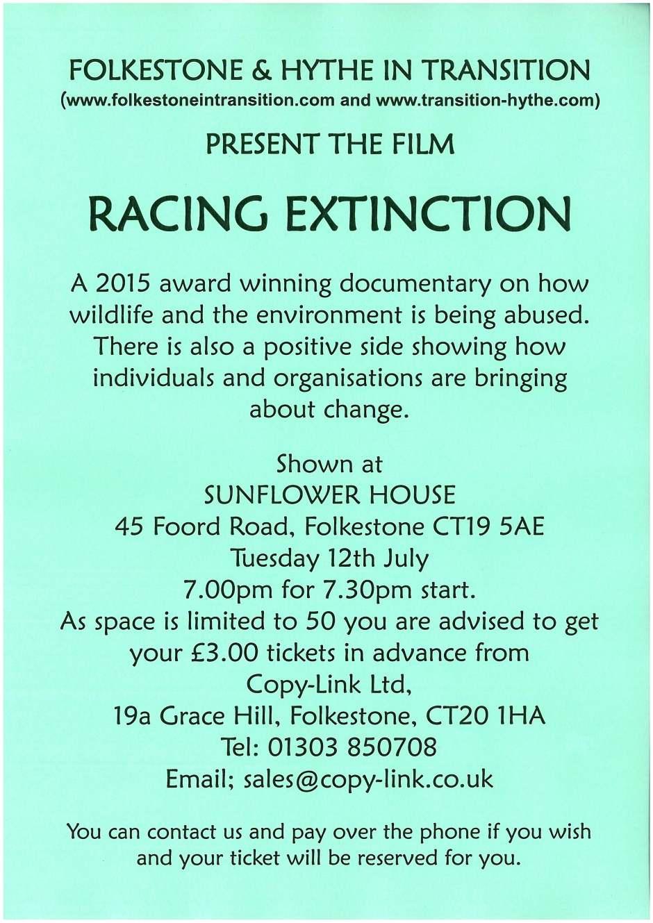 Folkestone, Hythe, Hythe In Transition, Folkestone In Transition, Sunflower House, Documentary, Film, Racing Extinction