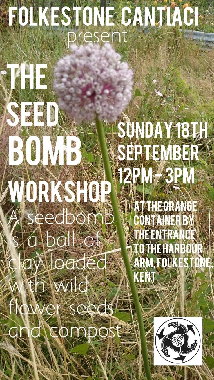 Folkestone, Cantiaci, Folkestone Cantiaci, Community, Transition Town, Seedbomb, Seed Bomb, Workshop