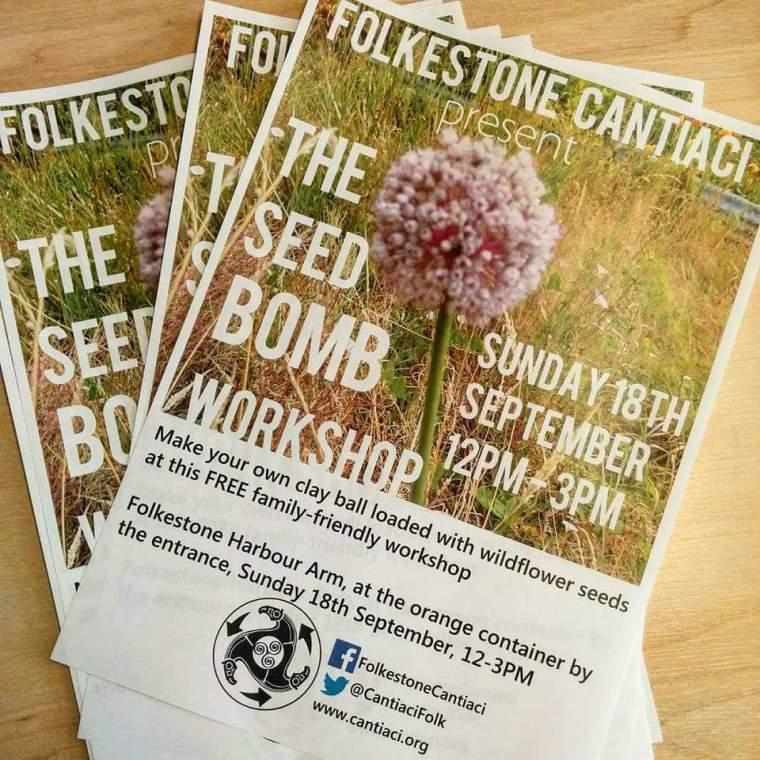 Folkestone, Folkestone Cantiaci, Cantiaci, Community, Transition Town, Harbour Arm, Seedbomb, Seed Bomb, Workshop