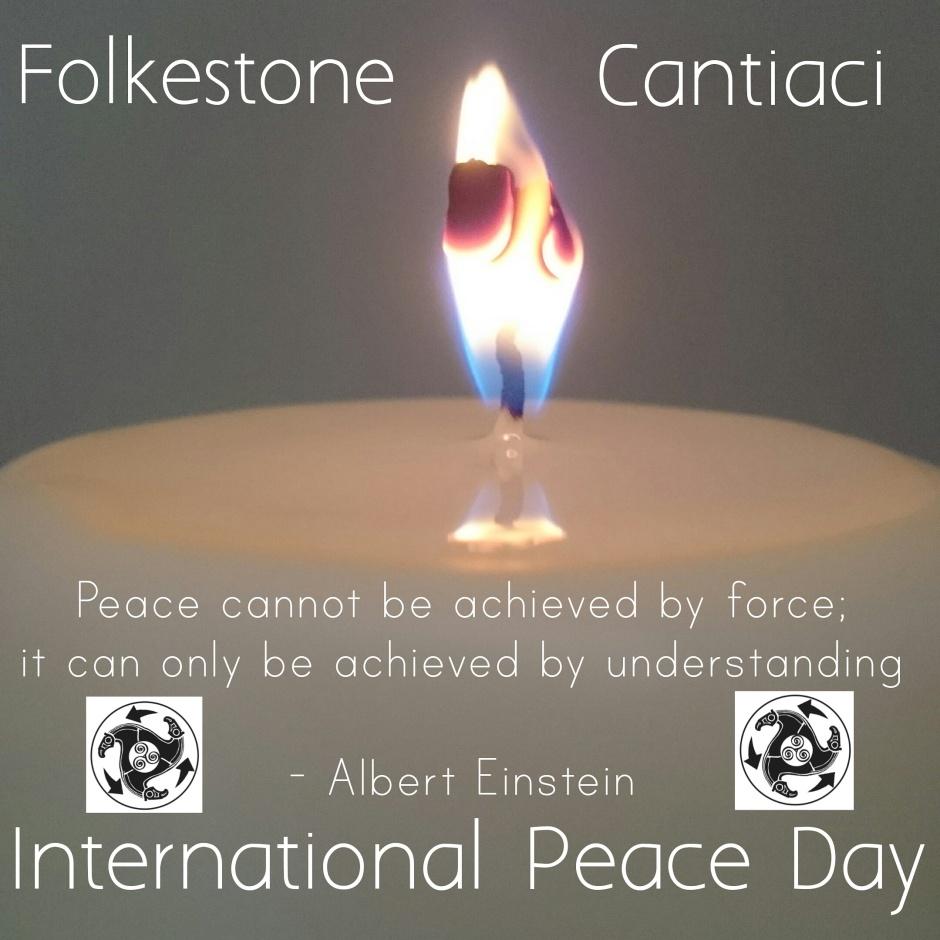 Folkestone Cantiaci, Cantiaci, Transition Town, Community, Folkestone, International Peace Day, Albert Einstein, Quote