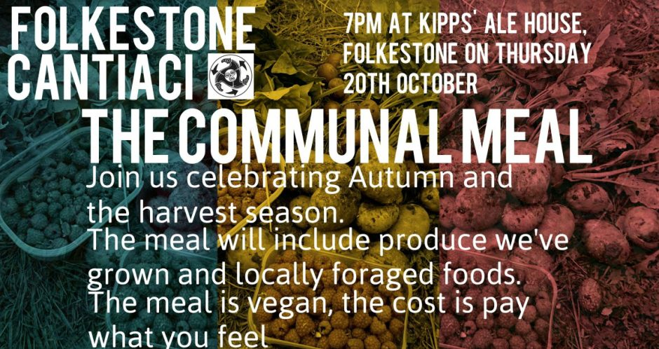 Folkestone Cantiaci, Cantiaci, Transition Town, Folkestone, Community, Meal, Kipps' Ale House, Communal Meal, Produce, Organic