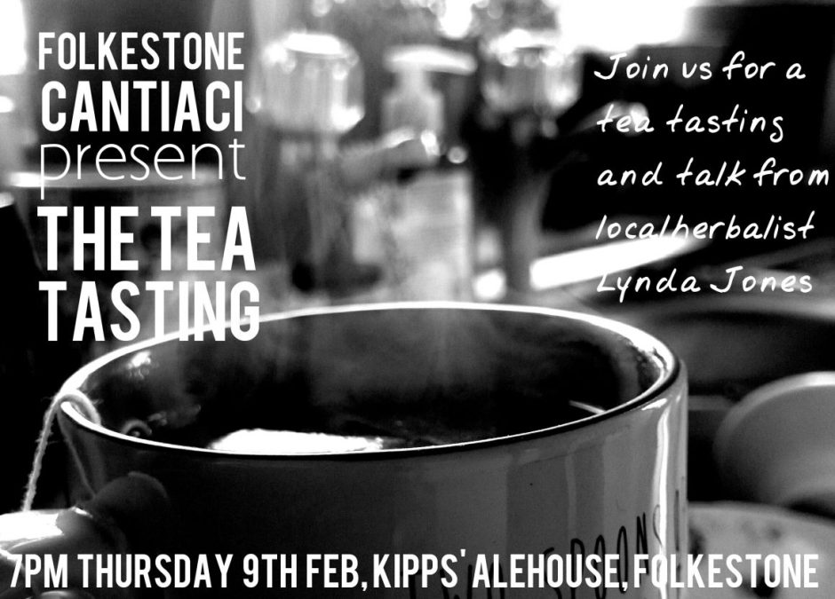 Folkestone Cantiaci, Folkestone, Cantiaci, Transition Town, Community, tea, tea tasting, kipps Alehouse, herbal tea, herbalism, Lynda Jones, talk