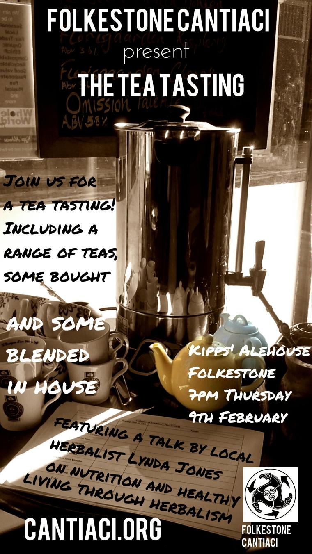 Folkestone Cantiaci, Folkestone, Cantiaci, Community, Transition Town, Kipps Alehouse, Kipps, Tea, Tea Tasting