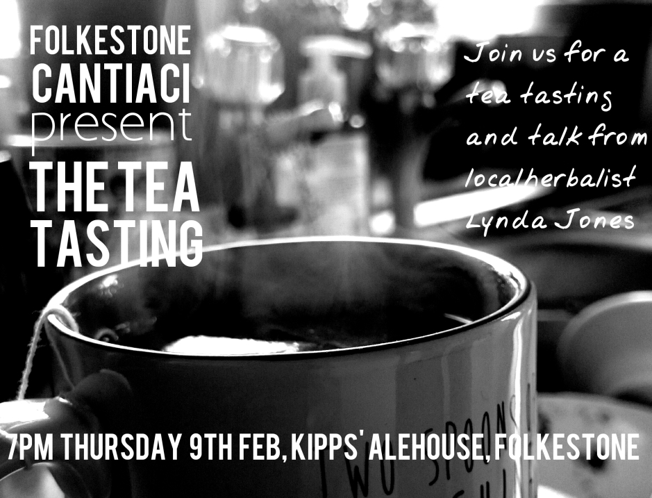 Folkestone, Cantiaci, Folkestone Cantiaci, Community, Transition Town, tea tasting, kipps ale house, tea, kent, herbal tea talk, lynda jones